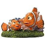 "Penn-Plax Finding Nemo and Marlin Aquairum Ornament 4"" 6"