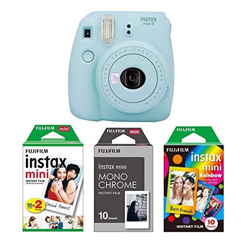 Fujifilm Imaging/Instax Mini 9 Kamera eisblau mit Filmset monochrome