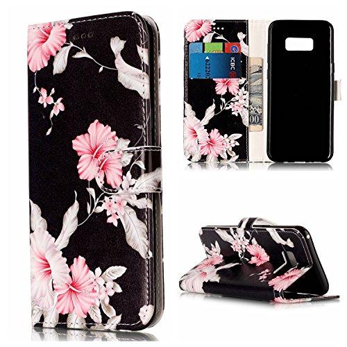 Nancen Compatible with Handyhülle Galaxy S8 (5,8 Zoll) Hülle, Flip-Case PU Leder Handytasche - Praktisches Design mit Magnetverschluss Standfunktion Brieftasche