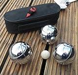 Boulespiel SET Metall mit Tragetasche, Boule Boccia Petanque Wurf Kugel Spiel (LHS)