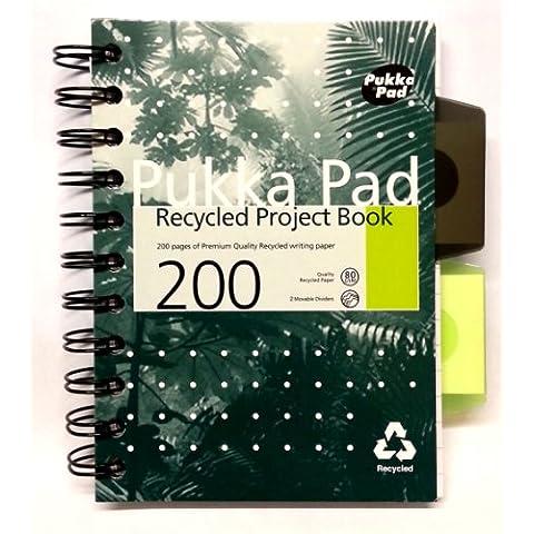 Pukka Pad-Quaderno, 200 pagine, 2 divisori mobili Handy 6 cm, a righe, 4 ½