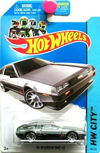 2014 Hot Wheels HW City Speed Team '81 Delorean DMC-12 (Grey with Black & Red Stripes on Sides and Hood) 33/250 by Hot Wheels