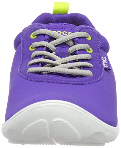 crocs Duet Busy Day Lace-up W Damen Sneaker Violett (Ultraviolet/White)
