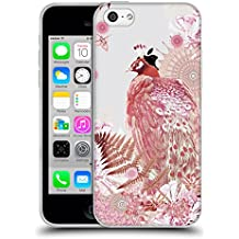 Official Monika Strigel Coral Tropical Peacock 2 Soft Gel Case for Apple iPhone 5c