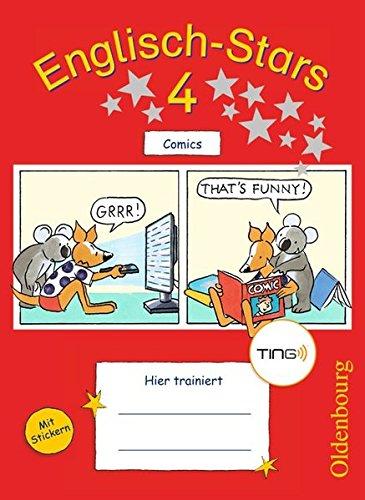 Englisch-Stars - TING-Ausgabe: 4. Schuljahr - Übungsheft Comics: Mit Lösungen (4 Lösung)