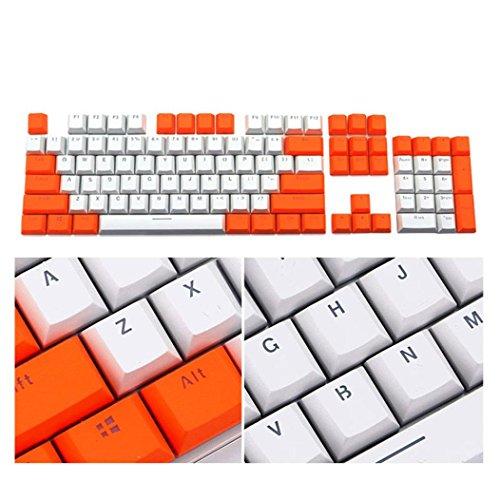 kingko® 104 Tastenkappen mit PBT Hintergrundbeleuchtung für Cherry MX Keyboard Switch Material: PBT (Wie Gezeigt)