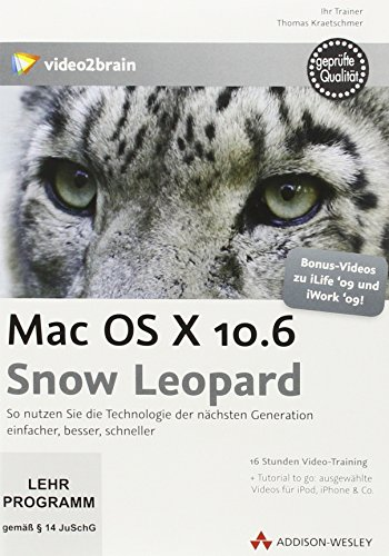 Mac OS X 10.6 Snow Leopard, 16 Stunden Video-Training