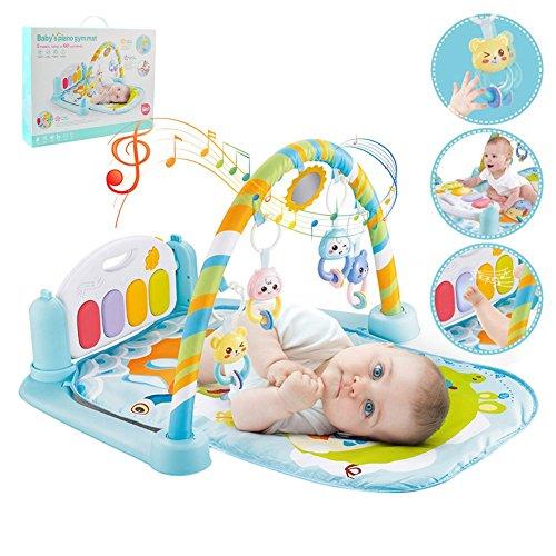 Gimnasio para piano 5-en-1 Baby Kick and Play, tapete de juego para...