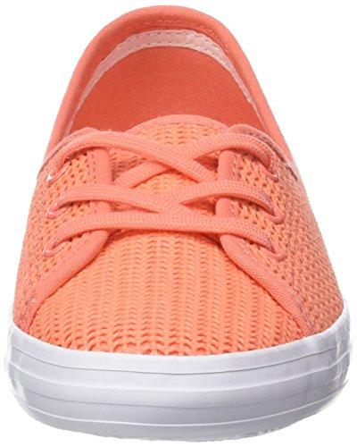 Lacoste Ziane Chunky 217 1, Basses Femme Orange (Orange)