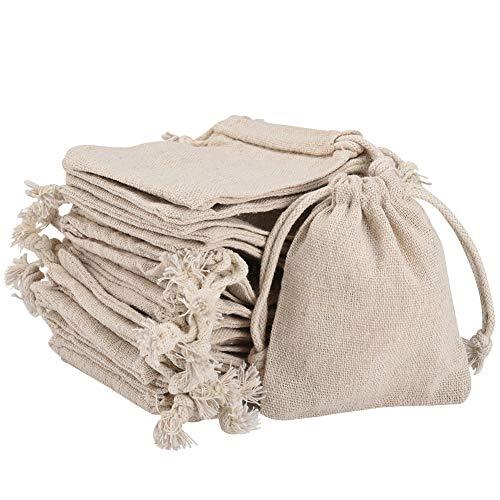 Irich 30Pcs Cotton Bags, Biodegr...