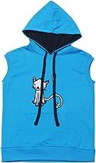 The Talking Canvas Kit Cat Sleeveless Hoodie