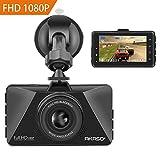 AKASO Full HD Dashcam Autokamera C200 ultra 1080P mit 3 Zoll LCD Bildshirm 170 Weitwinkelobjektiv Nachtsicht Dash cam mit G-Sensor, Bewegungserkennung,Parkmonitor, WDR, Loop-Aufnahme, Kamera fürs Auto