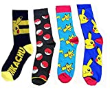 Jintong 4Pairs Pokemon Chaussettes Hommes Femme Cool Chaussettes Socks