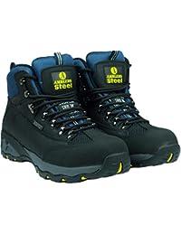 Amblers Steel FS161Chaussures de sécurité de coffre imperméable à lacets couleur Semelle Chaussures, noir