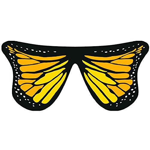 Amor Kostüm Mädchen - JMETRIC 147 × 70 Schmetterling Schal Mädchen Schmetterlingsflügel Fasching Kostüme Chiffon Schmetterlings Butterfly Flügel