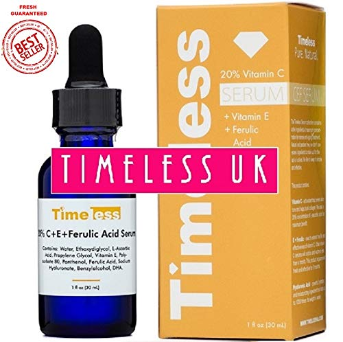 Timeless Skin Care 20% Vitamin C+E Ferulic Acid Serum 30ml - From Timeless-UK the Primary Authorised distributor of Timeless Skin Care Range...
