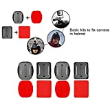 SHOOT 12er 3M Klebebefestigung Adhesive Aufkleber Halterung für GoPro 5 4 3 + 3 2 Helm Halterung tonsee - 5