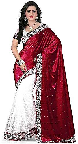 HS CREATION red velvet net saree