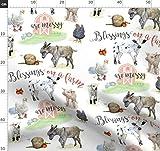 Bauernhof, Tiere, Huhn, Kuh, Schwein, Natur Stoffe -