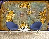 Wemall Papier peint personnalisé 3d mural européen carte ancienne jeu en ligne World of Warcraft fond d'écran papier peint Papel de parede, 350x245 cm (137.8 by 96.5 in)