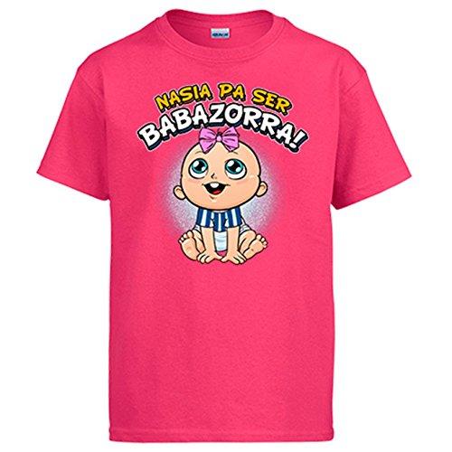 Camiseta nacida para ser Babazorra Alavés fútbol - Rosa, 3-4 años