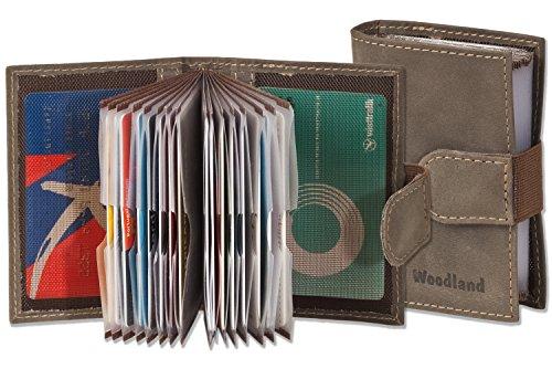 Woodland - Custodia per carte di credito-XXL realizzata in vitello