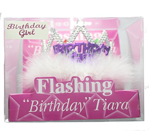 blinkende Tiara Birthday Girl (H Fancy Dress Kostüme)