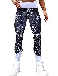 Pantalones de yoga Para mujeres Leopardo Polainas deportivas Sexy De las mujeres  Alta cintura Pantalones elásticos 5f8a4856b278