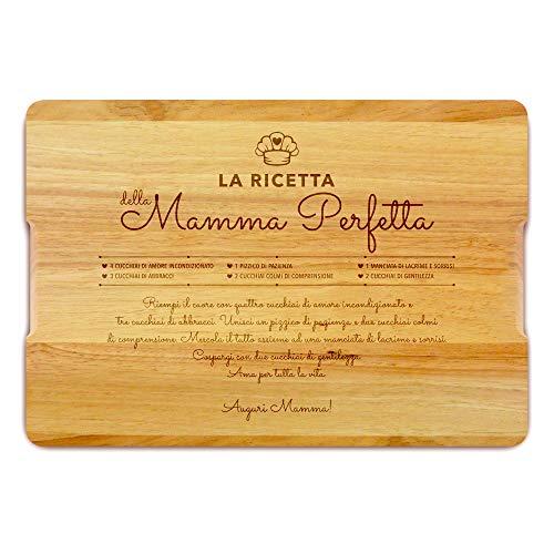 Tagliere personalizzato in legno, regalo per la festa della mamma, regalo di natale, arredamento per la cucina