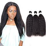 Extensions de cheveux vierges brésiliens-Cheveux naturels style africain-Lisses-6A-Couleur naturelle