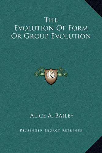 The Evolution of Form or Group Evolution