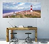 Wallario selbstklebendes XXL Poster – Leuchtturm am Strand von Sylt in Premiumqualität, Größe: 80 x 200 cm - 4