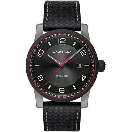 Montblanc Men's TimeWalker Urban Speed 42mm Black Leather Band Steel Case Automatic Analog Watch 115079