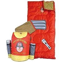 """Abbey Fire Department Rucksack - Sacco a pelo per bambino, include cuscino e torcia, motivo """"Pompieri"""""""