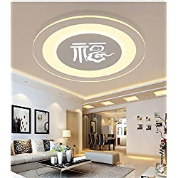 GK-Semplice ed elegante soggiorno è accogliente e romantica camera da letto marrone chiaro off scale corridoi profilati led luce da soffitto tre colori di luce,Diameter 50cm
