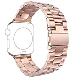 Für Apple Watch Armband 42mm Rose Gold,Rosa Schleife® Edelstahl Metall Apple iWatch Armband...