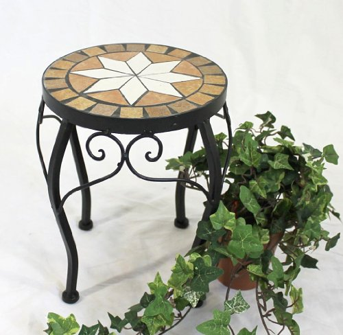 Flower Stool Merano Mosaic 12014 Stool 27 cm Flower Stand Round Coffee Table