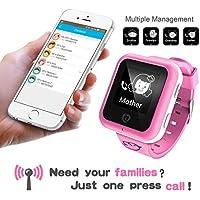 GPS Locator per i bambini bambino intelligente Watch Phone chiamata SOS pista Bluetooth per iOS Android