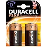 Duracell - lr20 x2 plus - Lot de 2 piles alcalines type lr20 d 1,5 volts