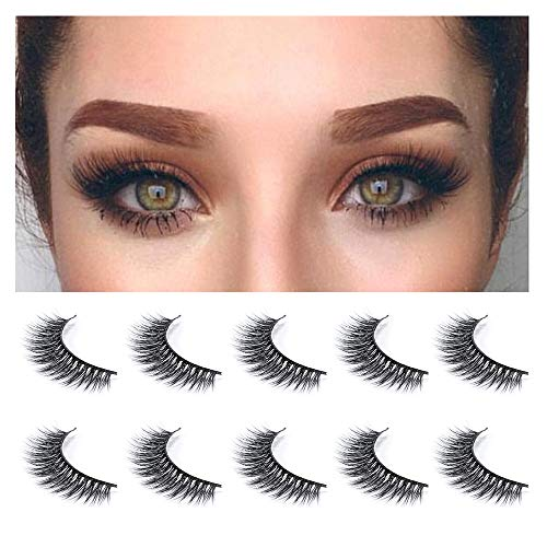 f0590852c5e Neflyon 3D Mink False Eyelash 100% Handmade Reusable Soft and Natural  Dramatic False Eyelashes 5