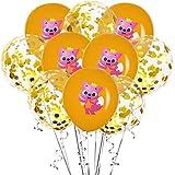Balloon Set 10pcs dessin animé mignon requin renard confettis ballon ensemble animal...