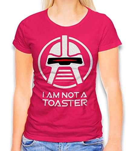 Battlestar Galactica Not A Toaster Damen T-Shirt Fuchsia M