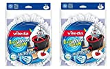 2pezzi Vileda easyw Ring & Clean Mocio ricambio rivestimento con microfibra Easy wring