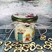 Regalo per i Nonni - Candela in cera di soia e oli essenziali personalizzata con dedica – Festa dei Nonni – Vi