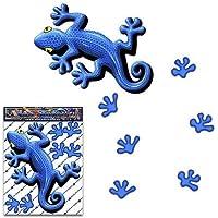 Blauer Gecko Tier Aufkleber für Auto LKW Wohnwagen - ST00031BL_SML - JAS Aufkleber