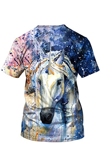 Belsen Damen Blusenbody T-Shirt, Animalprint Wolf Medium Einhorn