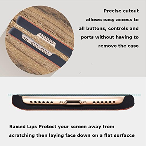 iPhone 7/8 4.7inch wooden Case, Soundmae Real Wooden Handmade Unique Pattern Carving Wood With Hard Plastic Back Skin Case Cover For iPhone 7/8 4.7inch[Mandrake] Tree