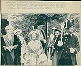 Vintage photo of The Queen Mother Elizabeth Angela Marguerite Bowes-Lyon