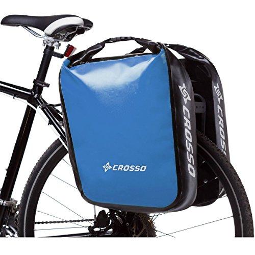CROSSO DRY BIG CO1009 CA 60L Click Adventure Fahrradtasche Gepäckträgertasche Blau