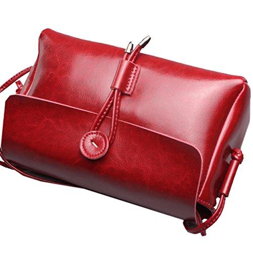 Yy.f Nuove Borse In Pelle Borse In Pelle Borse Nuove Signore Borse Casual Borse A Tracolla Donna Del Design Borse Multicolore Red